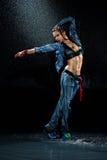 Wet dancing woman. Stock Photography