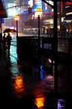 Wet day at Time Square. New York Time Square street scene in the rain at night Royalty Free Stock Images