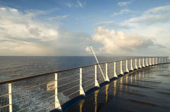 Wet deck Stock Photography