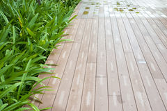 Wet deck Stock Image