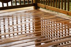 Wet Deck Reflections/Corner View Stock Photos