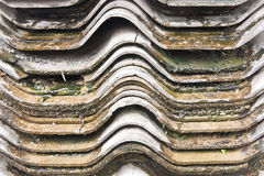 Wet and dirty roof tile Stock Photography