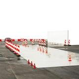 Wet drive test Stock Photos