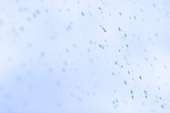 Wet drops on a glass Royalty Free Stock Images