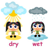 Wet and dry Stock Photo
