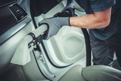 Wet Dry Car Interior Vacuuming royalty free stock images