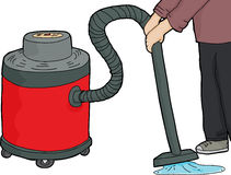 Wet-Dry Vacuum Over Water Royalty Free Stock Image