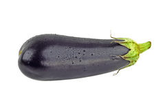 Wet eggplant Stock Photo