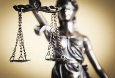 Wet en rechtvaardigheidsconcept Stock Afbeeldingen