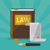 Wet en Rechtvaardigheidspictogramontwerp royalty-vrije stock afbeelding