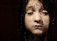 Wet face Royalty Free Stock Image