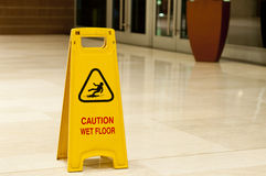 Wet Floor Stock Photography