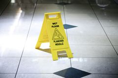 Wet Floor. Sign stock photo