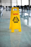 Wet Floor Caution Sign Royalty Free Stock Photo