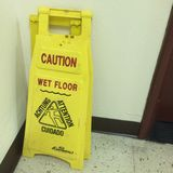 Wet floor Royalty Free Stock Images