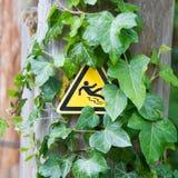Wet floor caution sign Stock Images