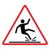 Wet floor caution sign. Vector illustration. Stock Image