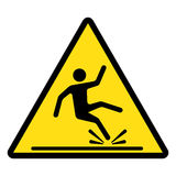 Wet floor caution sign. Vector illustration. Stock Photo