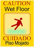 Wet Floor Cuidado Piso Mojado Stock Photos