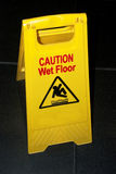 Wet floor sign Stock Photos