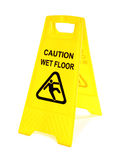 Wet floor sign Stock Image
