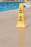 Wet floor sign royalty free stock photos