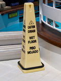Wet floor sign Royalty Free Stock Photo