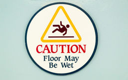 Wet Floor Sign. Caution Wet Floor sign on a plain background Stock Photography