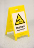 Wet floor sign in german Royalty Free Stock Photography