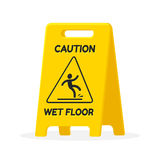 Wet floor sign. Isolated fat vector illustration Royalty Free Stock Photos