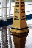 Wet floor sign stock images