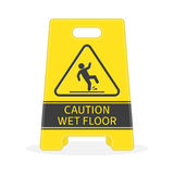 Wet floor sign. Royalty Free Stock Photos