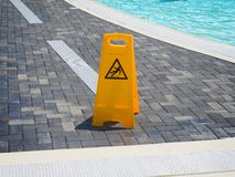 Wet floor warning sign Royalty Free Stock Photos