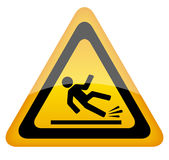 Wet floor warning sign Stock Photos