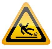Wet floor warning sign. On white background Stock Photos