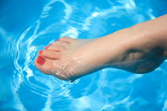 Wet foot Royalty Free Stock Image