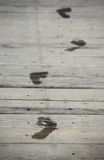 Wet footprints Royalty Free Stock Photography