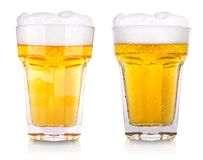Wet fresh beer Stock Image