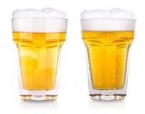 Wet fresh beer Stock Image