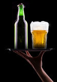 Wet fresh beer Royalty Free Stock Photo