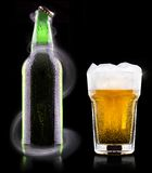 Wet fresh beer Stock Photography