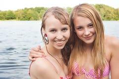 Wet friends Stock Photo