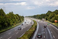 Wet german highway Royalty Free Stock Photography