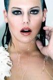 Wet girl Stock Photo