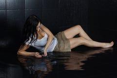 Wet Girl Stock Images