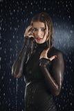 The wet girl Stock Photo