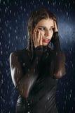 The wet girl Stock Photos