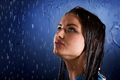 Wet girl Royalty Free Stock Images