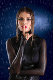 Wet girl Stock Photos