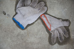 Wet gloves Royalty Free Stock Photography